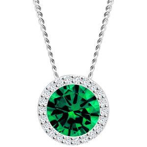 Preciosa Strieborný náhrdelník Emerald 5268 66 (retiazka, prívesok) vyobraziť