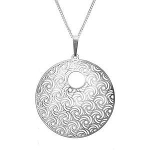 Praqia Strieborný náhrdelník Whirling KO1277V_CU050_45_RH (retiazka, prívesok) vyobraziť