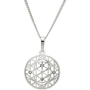 Praqia Tajomný strieborný náhrdelník KO1594_CU040_50_RH (retiazka, prívesok) vyobraziť