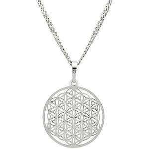 Praqia Strieborný náhrdelník Mandala KO1785m_CU050_50_RH (retiazka, prívesok) vyobraziť