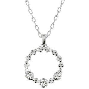 Praqia Elegantný strieborný náhrdelník Stella KO8089_MO040_45_RH (retiazka, prívesok) vyobraziť