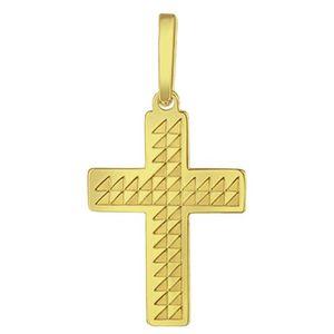 Praqia Zlatý prívesok Krížik PA6254 vyobraziť