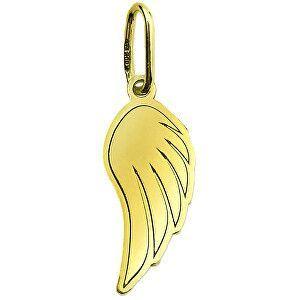 Brilio Nežný zlatý prívesok Anjelské krídlo PA7003 vyobraziť
