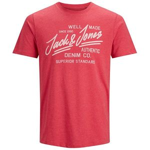Jack&Jones Pánske tričko JJEJEANS 12177533 True Red MELANGE S vyobraziť