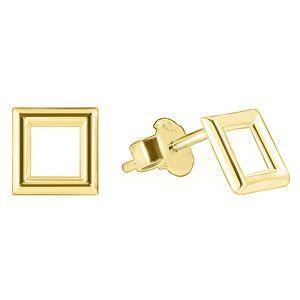 Brilio Zlaté náušnice štvorčeky GOLD003_AU_Y vyobraziť