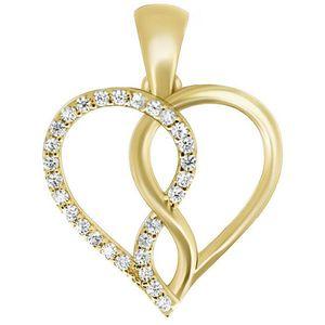 Brilio Romantický prívesok zo žltého zlata PENT243_AU_Y vyobraziť