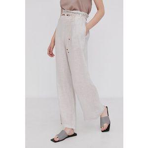 Answear Lab - Ľanové nohavice Pure Linen vyobraziť
