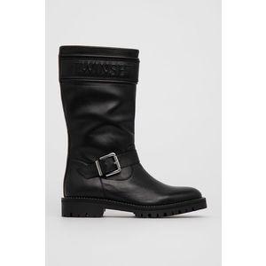 Twinset - Kožené členkové topánky vyobraziť
