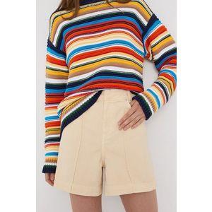 Victoria Victoria Beckham - Rifľové krátke nohavice vyobraziť