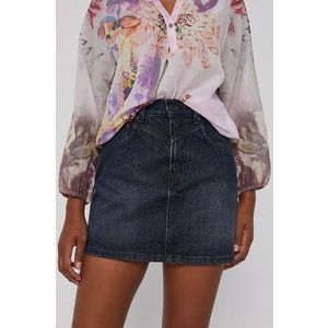 Pepe Jeans - Rifľová sukňa Rachel vyobraziť