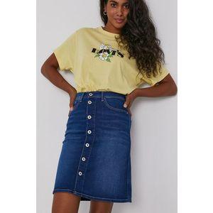 Pepe Jeans - Rifľová sukňa Marble vyobraziť