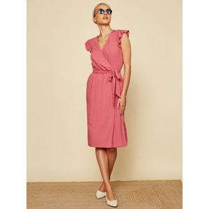 Ružové zavinovacie šaty ZOOT Francine vyobraziť