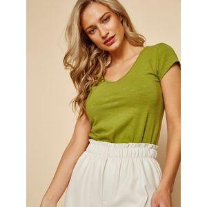 Zelené dámske basic tričko ZOOT Baseline Lia vyobraziť
