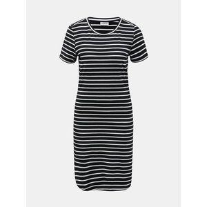 Bielo-čierne pruhované basic šaty Noisy May Simma vyobraziť