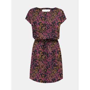 Ružovo-modré kvetované šaty ONLY vyobraziť