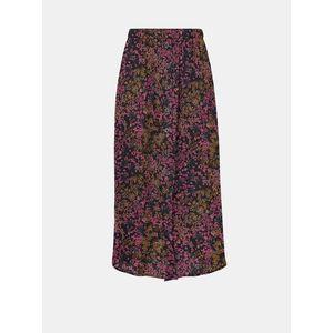 Ružovo-modrá kvetovaná midi sukňa ONLY vyobraziť