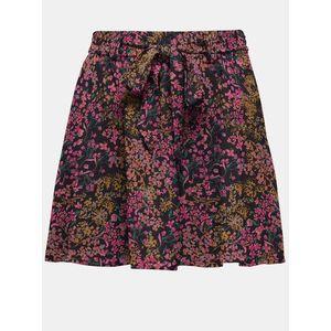 Ružovo-modrá kvetovaná sukňa ONLY vyobraziť