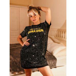 Čierna dámska nočná košeľa ZOOT Original Dark side vyobraziť