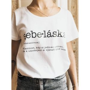 Biele dámske tričko ZOOT Original Sebe: láska vyobraziť