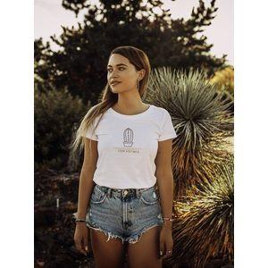 Biele dámske tričko ZOOT Original Jsem květinka vyobraziť