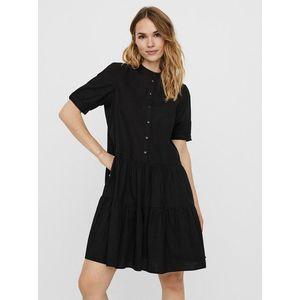 Čierne košeľové šaty vyobraziť