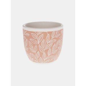 Oranžový vzorovaný keramický kvetináč Dakls vyobraziť