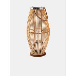 Hnedá bambusová lucerna so sklom Dakls vyobraziť