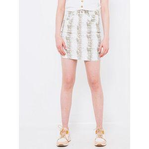 Biela vzorovaná púzdrová sukňa CAMAIEU vyobraziť