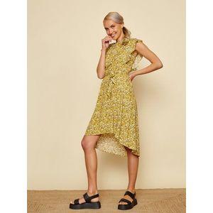 Žlté kvetované šaty so zaväzovaním ZOOT Felicita vyobraziť
