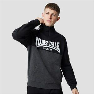 Lonsdale Fully Loaded Zip Neck Sweatshirt vyobraziť