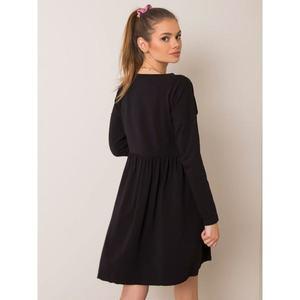 RUE PARIS Black melange dress vyobraziť