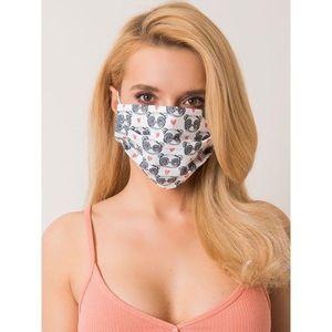 White protective mask with a print vyobraziť