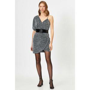 Koton Women's Grey Leopard Print Dress vyobraziť