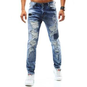 Pánske riflové nohavice modré vyobraziť