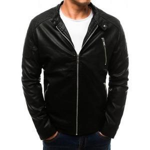 Pánska SPRING bunda koženka čierna vyobraziť