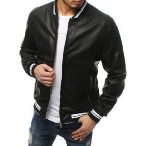 Pánska bunda koženka čierna TX3155 vyobraziť