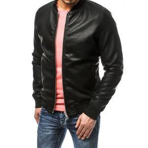 Pánska bunda koženka čierna TX3158 vyobraziť