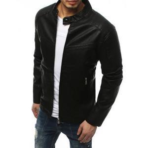 Pánska bunda koženka čierna TX3157 vyobraziť