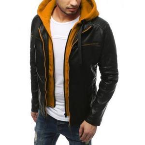 Pánska bunda koženka čierna TX3188 vyobraziť