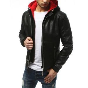 Pánska bunda koženka čierna TX3174 vyobraziť