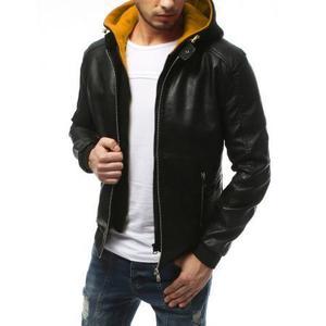 Pánska bunda koženka čierna TX3175 vyobraziť