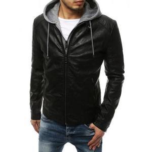 Pánska MEN bunda koženka čierna TX3218 vyobraziť