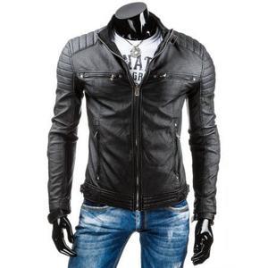 Pánska MEN bunda koženka čierna TX3247 vyobraziť