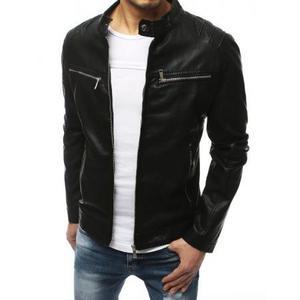 Pánska bunda koženka čierna TX3200 vyobraziť