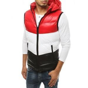 Pánska vesta s kapucňou prešívaná červená tx3382 vyobraziť