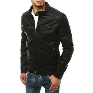 Pánska bunda koženková čierna tx3453 vyobraziť