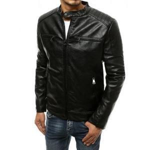Pánska koženková bunda čierna tx3510 vyobraziť