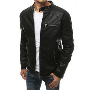Pánska bunda zimná koženka čierna tx3435 vyobraziť