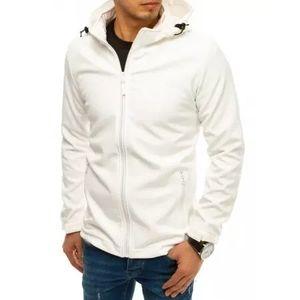 Pánska bunda softshell s kapucňou biela SPORT vyobraziť