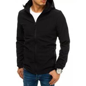Pánska bunda softshell s kapucňou čierna SPORT vyobraziť